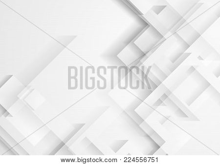 Abstract light grey technology geometric background. Minimal vector design
