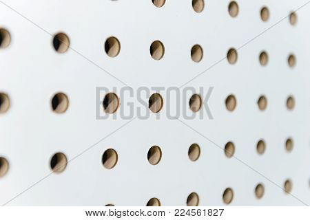 white soundproof wall, sound barrier, sound absorbing, background