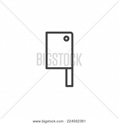 Kitchen ax line icon, outline vector sign, linear style pictogram isolated on white. Meat axe symbol, logo illustration. Editable stroke