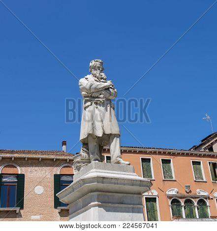 Statue of Nicolo Tommaseo in Venice, Italy