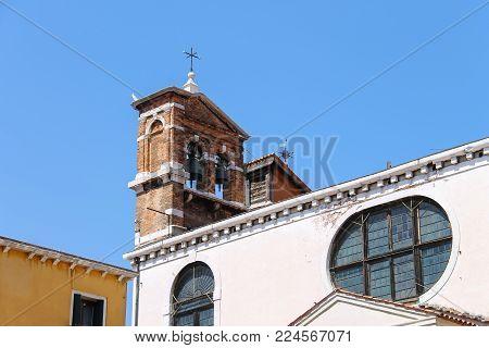 Bells of Santa Maria Zobenigo church (Chiesa di Santa Maria del Giglio) in Venice, Italy