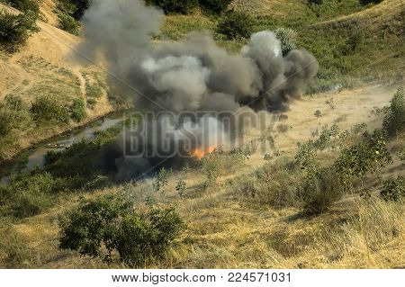 Explosion At A Military Training Ground.