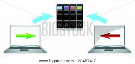 global computer network illustration design