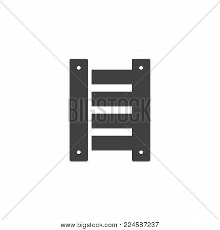 Ladder icon vector, filled flat sign, solid pictogram isolated on white. Symbol, logo illustration.