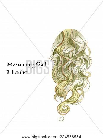 Gold ringlets of the hair curling, the blonde