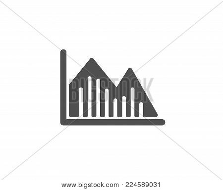 Financial chart simple icon. Economic graph sign. Stock exchange symbol. Business investment. Quality design elements. Classic style. Vector