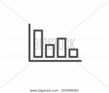 Histogram Column chart line icon. Financial graph sign. Stock exchange symbol. Business investment. Quality design element. Editable stroke. Vector