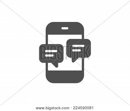 Phone Message simple icon. Mobile chat sign. Conversation or SMS symbol. Quality design elements. Classic style. Vector