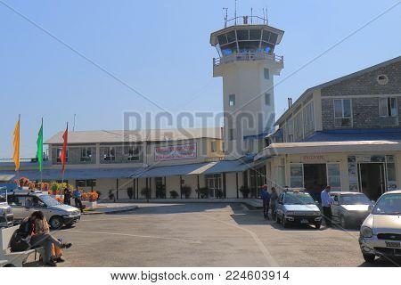 Pokhara Nepal - November 8, 2017: Unidentified People Travel At Pokhara Airport In Pokhara Nepal.