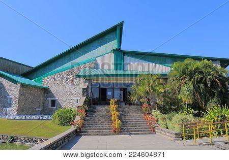 Pokhara Nepal - November 8, 2017: International Mountain Museum In Pokhara Nepal.