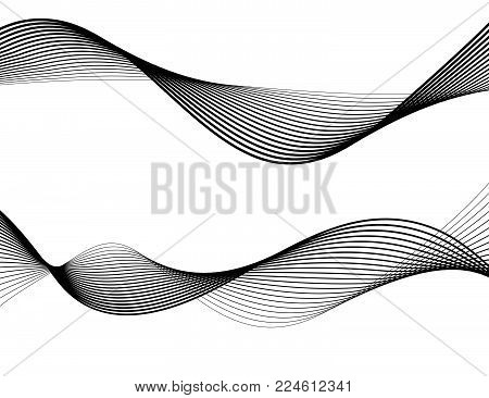 Design Element Wave Many Parallel Lines Wavy Form29