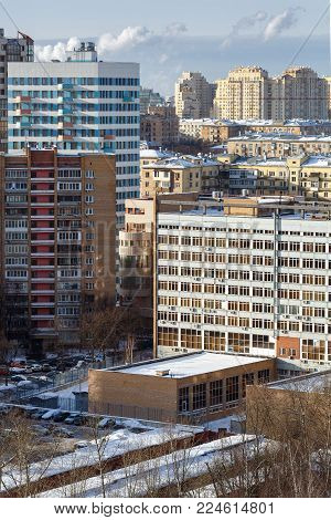 Residential neighborhood. South-Western Administrative Okrug, Gagarinsky district, Moscow, Russia.