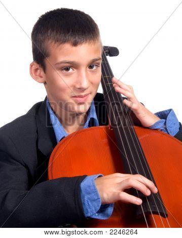 Boy Playing Cello