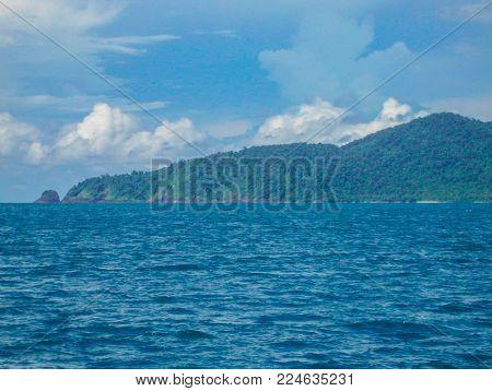 KOH CHANG, THAILAND - Novemder, 2011.Azure water around the island of Koh Chang in Thailand