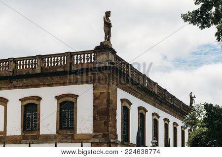 Museum of Betrayal on Tiradentes Square in UNESCO World Heritage City Ouro Preto, Minas Gerais, Brazil