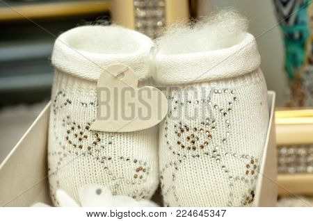 Bootees For Babies Are Knitted
