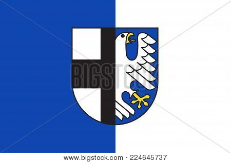 Flag of Balve is a town in the Maerkischer district, North Rhine-Westphalia, Germany. Vector illustration