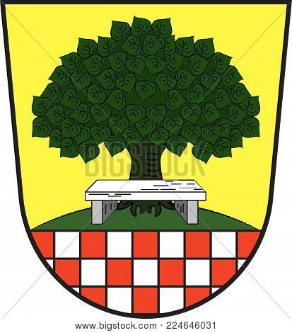 Coat of arms of Halver is a town in the Maerkischer Kreis district, North Rhine-Westphalia, Germany. Vector illustration