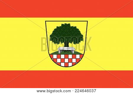Flag of Halver is a town in the Maerkischer Kreis district, North Rhine-Westphalia, Germany. Vector illustration