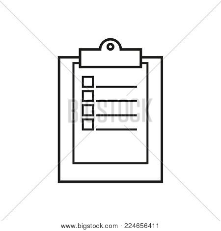 Clip board work icons on the white background
