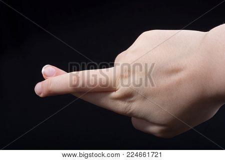 Crossed fingers Symbol superstition luck or lie gesture