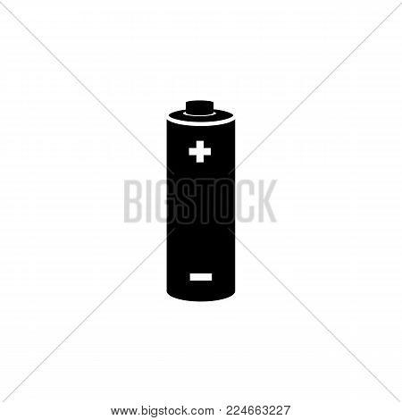 Battery icon +- plus,minus icon on white background