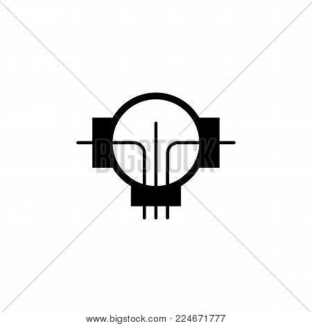 generator engine vector icon on white background