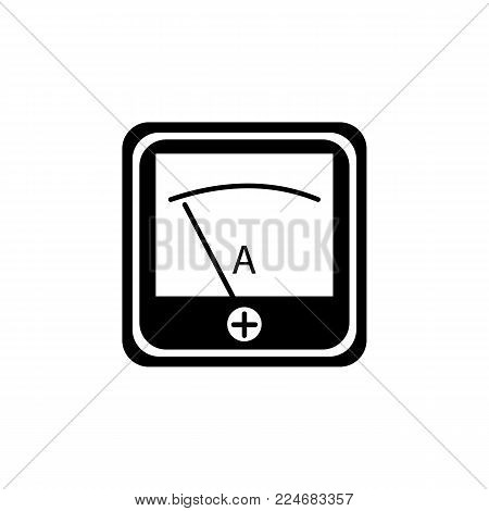 Volmeter Ammeter Indicator Icon On Vector & Photo | Bigstock