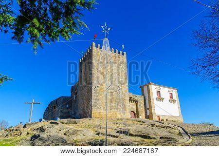 View of the Belmonte castle, in Belmonte, Castelo Branco, Portugal