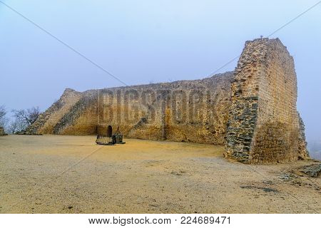 Remains of the walls, in the historic old town of Miranda do Douro, Portugal