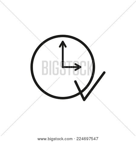 Execute clock work icon on the white background