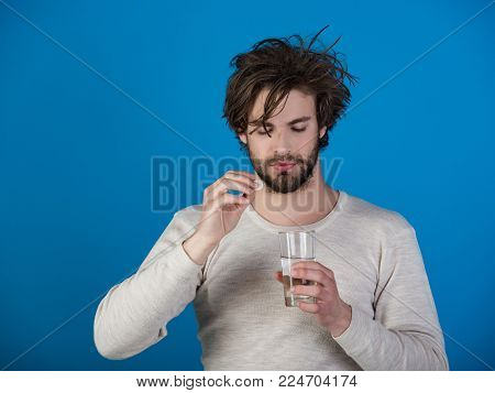 Painkiller Drug, Antidepressant. Health And Medicine, Flu And Cold. Headache Treatment, Hypnotic Tab