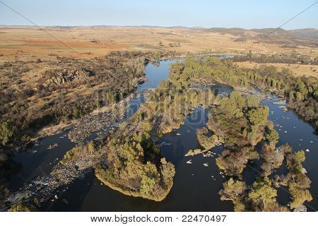 Vaalriver from Airballoon