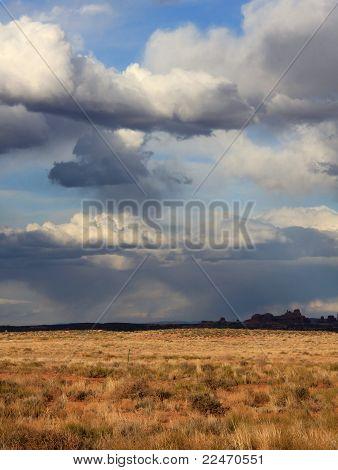 Unsettled Desert Sky