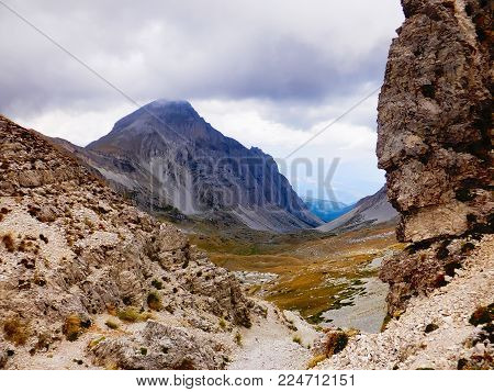 Gran Sasso mountains in southern Italy, Appennines