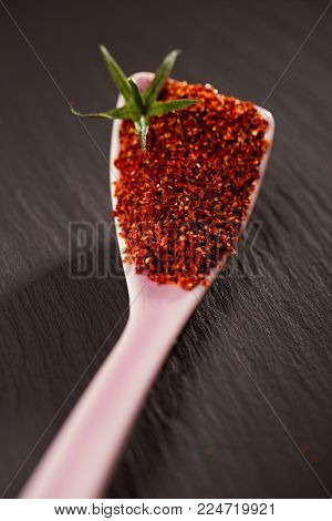 Natural ground sun dried tomato powder have a very particular flavour, both sweet and savoury