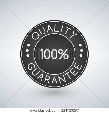 100 Quality guarantee sticker or label, vector illustration.