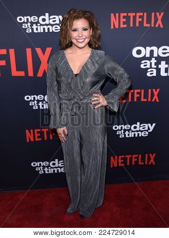 LOS ANGELES - JAN 24:  Justina Machado arrives for Netflix's 'One Day At A Time' Season 2 Premiere on January 24, 2018 in Hollywood, CA