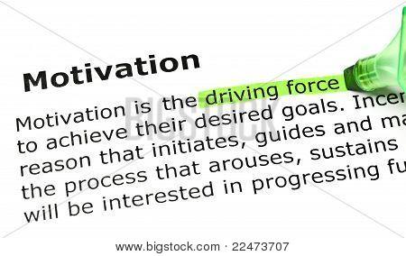 'driving Force', Under 'motivation'