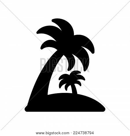 Palm Tree Icon Isolated On White Background. Palm Tree Icon Modern Symbol For Graphic And Web Design