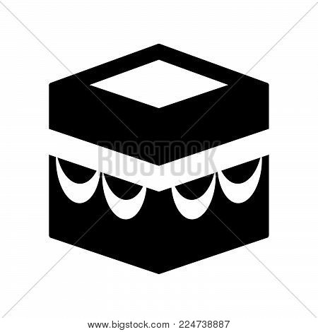 Kaaba Icon Isolated On White Background. Kaaba Icon Modern Symbol For Graphic And Web Design. Kaaba