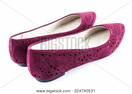 Preaty Pink Shoes Isolated On White Background