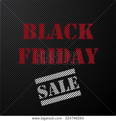 vector stamp black friday sale on metal grille