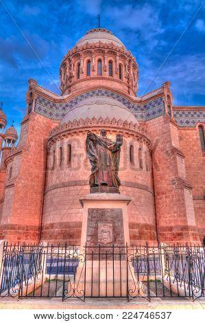 Exterior view to Cathedrale Notre Dame d'Afrique, Algiers, Algeria