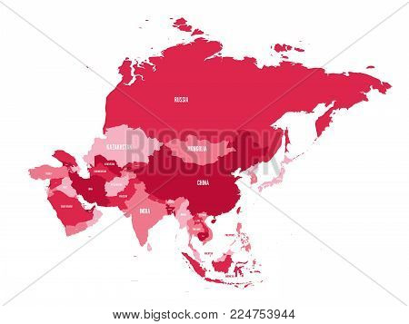 Political Map Asia Vector & Photo (Free Trial) | Bigstock
