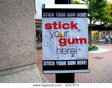Stick Your Gum Here