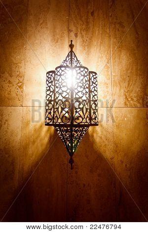 Ornate Metal Lamp