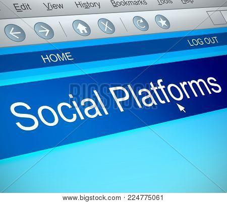 Social Platforms Concept.