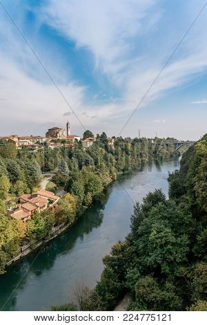 The Adda is a river in North Italy, a tributary of the Po. It rises in the Alps near the border with Switzerland and flows through Lake Como