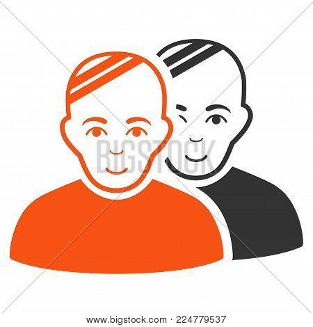 Patients vector flat icon. Person face has joy sentiment.
